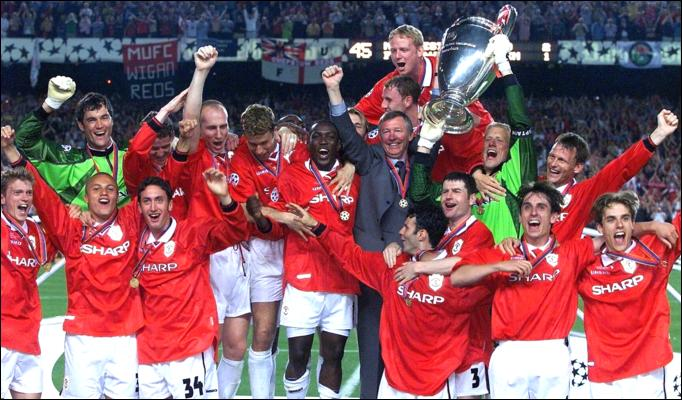 Manchester United di Final Champions League 1999